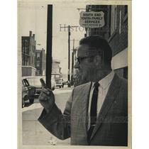 1969 Press Photo Michael Nardolillo, director of Trinity Institution outside