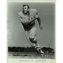 Press Photo Houston Oilers Football Linebacker Olen Underwood - sas19749