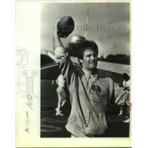 1983 Press Photo Former Dallas Cowboy Football Quarterback Brad Wright