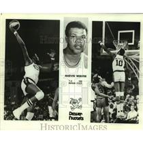 Press Photo Denver Nuggets Basketball Player Marvin Webster Dunks - sas20181