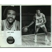 Press Photo Houston Rockets Basketball Player Rudy White Dribbles the Ball