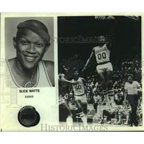 Press Photo Houston Rockets Basketball Player Slick Watts Takes a Lay-Up
