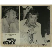 Press Photo New Orleans Jazz Basketball Coach Bill Van Breda Kolff in Huddle