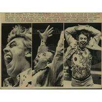 1976 Press Photo New Orleans Jazz Basketball Coach Butch van Breda Kolff Yells