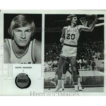 1977 Press Photo Houston Rockets basketball player Kevin Kunnert - nos18263