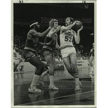 1977 Press Photo New Orleans Jazz Rich Kelly Against the Suns - nos18110