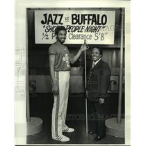 1978 Press Photo New Orleans Jazz basketball player Aaron James and W.V. Willis