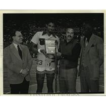 1978 Press Photo New Orleans Jazz basketball player Aaron James - nos17116