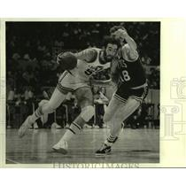 1978 Press Photo New Orleans Jazz and Boston Celtics play NBA basketball
