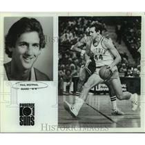 1978 Press Photo Phoenix Suns Basketball Player Paul Westphal Dribbles in Game
