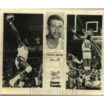 1979 Press Photo Denver Nuggets Basketball Player Marvin Webster Dunks