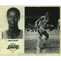 1979 Press Photo Los Angeles Lakers Basketball Player Jamaal Wilkes Dribbles