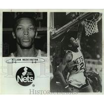 1979 Press Photo New Jersey Nets Basketball Player Wilson Washington Dunks
