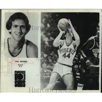 1979 Press Photo Phoenix Suns Basketball Player Paul Westphal Shoots During Game