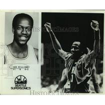 1979 Press Photo Seattle Supersonics Basketball Player Gus Williams Celebrates