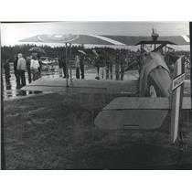 1981 Press Photo Group at Henley Aerodrome, Northern Idaho - spb22397