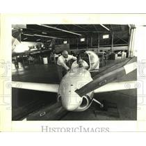 1983 Press Photo Mark Brown with Product Manager at Fairchild Aviation