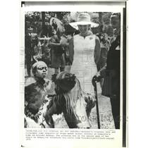 1971 Press Photo Britain's Princess Anne President Jomo - RRW30611