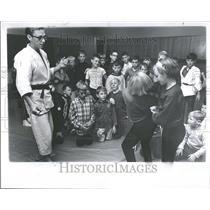 1966 Press Photo Bentley High judo class Joseph Puzio - RRV98643