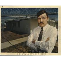 1988 Press Photo Jeff Parsons, Medina County Juvenile Detention Center, Texas