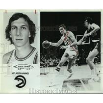 1979 Press Photo Atlanta Falcons Basketball Player Steve Hawes Dribbles in Game