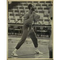 1982 Press Photo Seattle Supersonics Basketball Player Gus Williams at Practice
