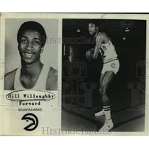 1979 Press Photo Atlanta Hawks Basketball Player Bill Willoughby Holds Ball