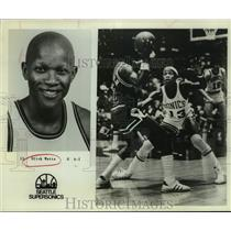 1978 Press Photo Seattle Supersonics Basketball Player Slick Watts Plays Defense