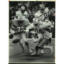 1986 Press Photo Dallas Cowboys & Houston Oilers Play Football - sas21061