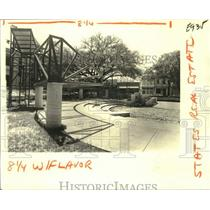 1980 Press Photo New Orleans Laurence Square park located on Napolean Avenue