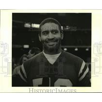 1986 Press Photo New England Patriots football player Brian Holloway - nos16783