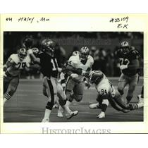 1991 Press Photo San Francisco 49ers football player Charles Haley vs. Saints