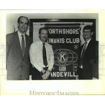 1991 Press Photo Northshore Kiwanis Club Officers, Rouquette Lodge, Mandeville