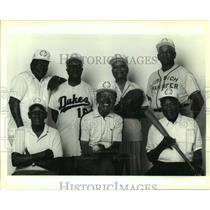 1994 Press Photo Old-Timers Club members and Negro Leagues baseball players
