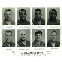 1996 Press Photo Indianapolis Colts football mug shots - nos16873