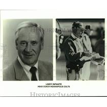 1996 Press Photo Indianapolis Colts football caoch Lindy Infante - nos16879