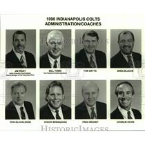 1996 Press Photo Indianapolis Colts football adminstration/coaches mug shots