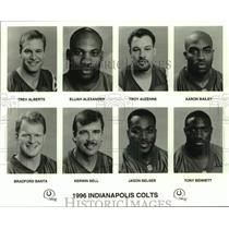 1996 Press Photo Indianapolis Colts football mug shots - nos16876