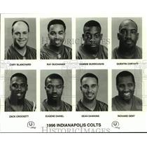 1996 Press Photo Indianapolis Colts football mug shots - nos16875
