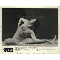 1976 Press Photo Yoga Instructor Lilias Folan on PBS Show Lilias, Yoga and You