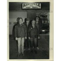 1980 Press Photo Members of the Mariaville New York Volunteer Fire Department