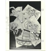 1983 Press Photo Designs for Quilt Squares Can Be Cut from Children's Books
