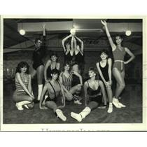 1983 Press Photo M&Ms group poses at American Health in New York - tua32881