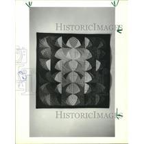 "1986 Press Photo Quilt in ""Hands All Around II"" Exhibit, Houston, Texas"