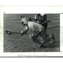 1990 Press Photo LaCrosse players during a game. - hcs09826