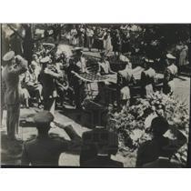 1950 Press Photo Burial of Lieutenant Howell C. Thomas Jr., Arlington Cemetery