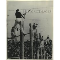 1938 Press Photo Axemen of World Championship Tree Felling Contest, Australia