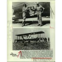"""1989 Press Photo Scenes from """"The Great Air Race of 1924"""", PBS - hcx34926"""
