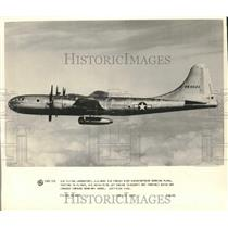 1950 Press Photo American Army Air Force B-29 Bomb Plane during test flight