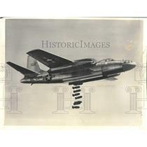 1958 Press Photo Air Force B-45 Tornado Four Jet Bomber At Muroc, Ca.